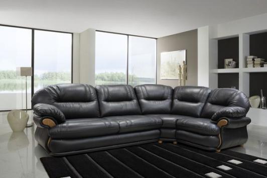 кожаный угловой диван орлеан в гостиную фото цены каталог